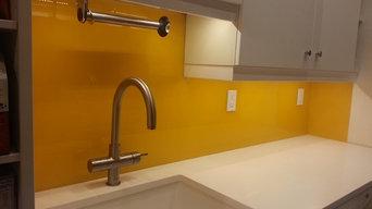 Custom color Kitchen backsplash for a private residence