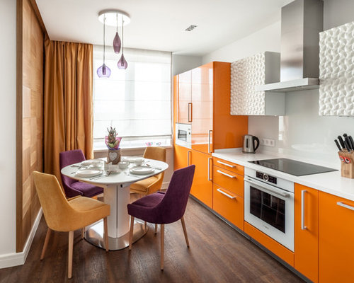 Marvelous Small Contemporary Eat In Kitchen Pictures   Inspiration For A Small  Contemporary Single Wall