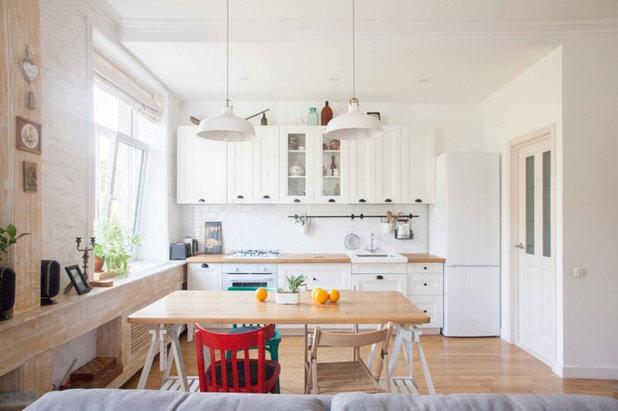 Скандинавский Кухня Дизайн квартиры в скандинавском стиле