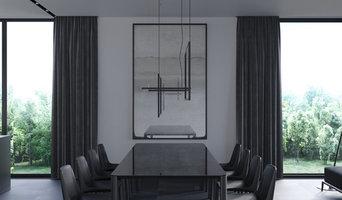 Дизайн-проект кухни-гостиной в современном доме в США