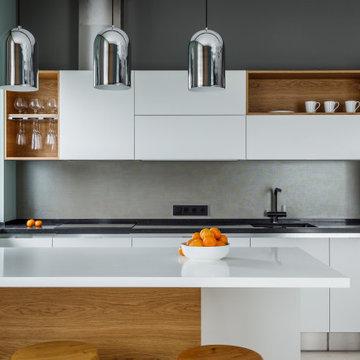 Дом, умный дом(фотографии кухни-гостиной)
