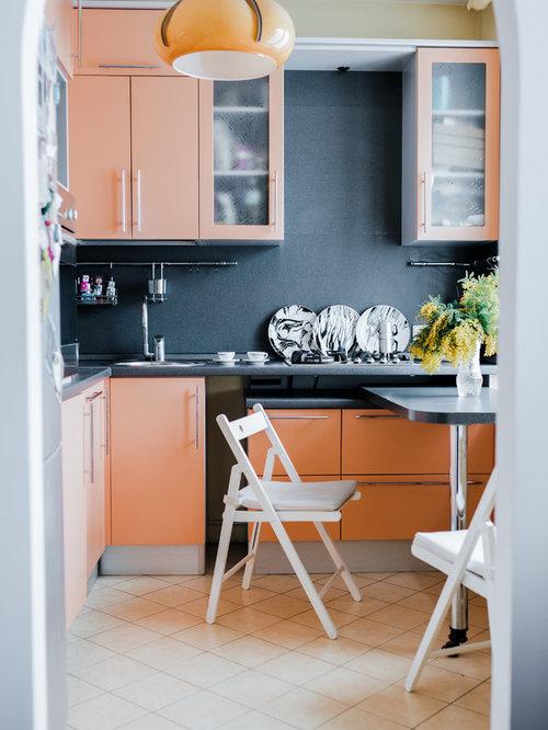 Ideas para cocinas | Fotos de cocinas pequeñas con puertas de ...