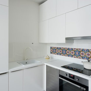Small Contemporary Enclosed Kitchen Pictures Example Of A Trendy L Shaped