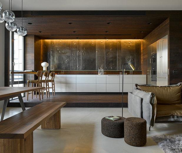 Современный Кухня by Domestic Studio