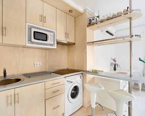 Ideas para cocinas | Fotos de cocinas abiertas con salpicadero de madera