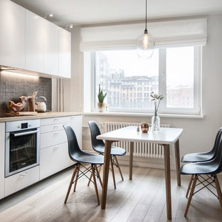 Small Scandinavian Eat In Kitchen Remodeling   Inspiration For A Small  Scandinavian Single Wall
