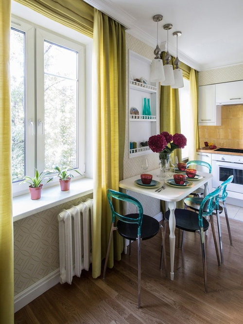Scandinavian kitchen with yellow backsplash design ideas for Scandinavian kitchen backsplash