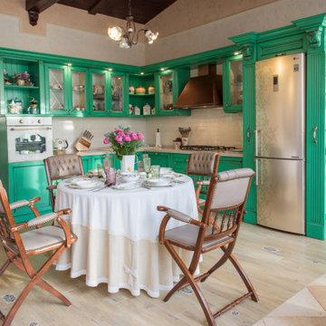 Интерьер гостевого дома в стиле Прованс. Интерьер бассейна (150 кв м)