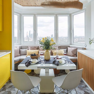 Photo of a contemporary kitchen in Moscow.