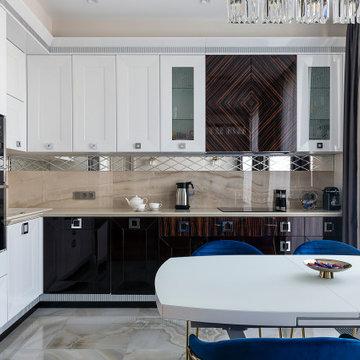 Кухня-гостиная. Вид на кухню.