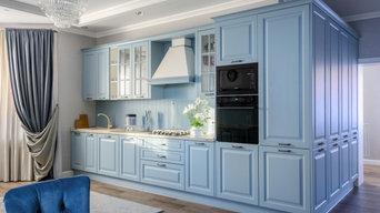 Кухня и прихожая в частном доме в Пензе