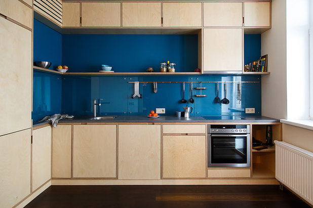 Scandinavian Kitchen by Никита Максимов // Интерьеры и Мебель из фанеры