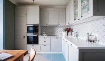 Кухня с фасадами Амстер из бука