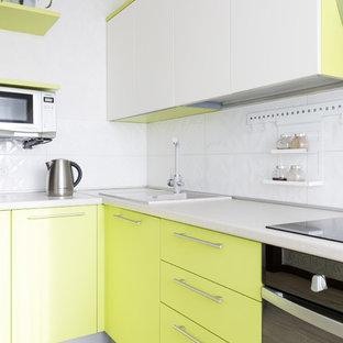 Кухня цвета зеленого яблока