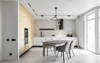Маскировка: 12 способов спрятать кухню в гостиной