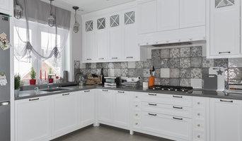 Кухня в загородный дом в скандинавском стиле