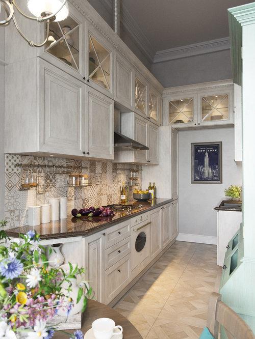 Kitchen With White Appliances Design Ideas & Remodel