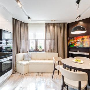 Свежая идея для дизайна: кухня в современном стиле - отличное фото интерьера