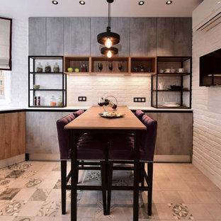 На фото: кухня в стиле лофт
