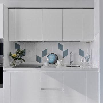 Квартира для сдачи в аренду, белая кухня