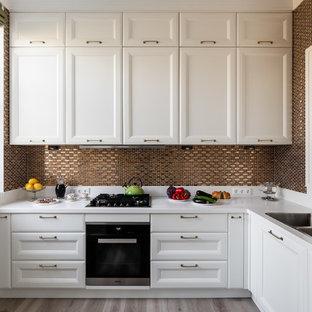 кухни в скандинавском стиле с фартуком из плитки мозаики фото 200