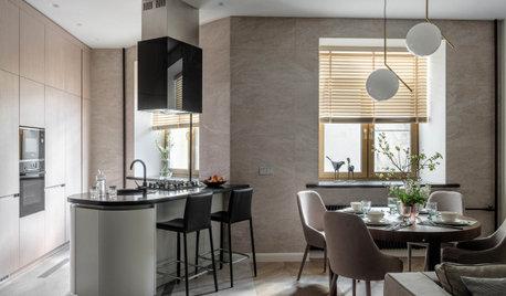 Цена проекта с фото: Кухонная зона с островом за 2 330 275 ₽