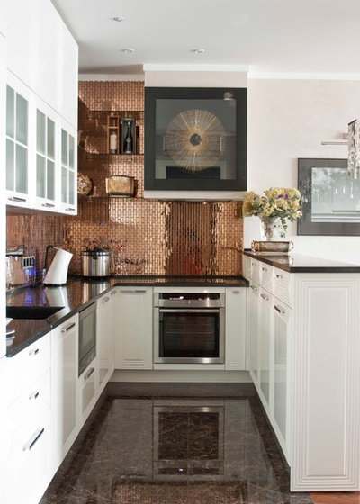Transitional Kitchen by Small Interiors Design