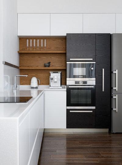 Современный Кухня by IZOOOM, design interior studio