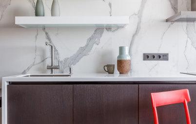 Houzz тур: Квартира для пары — любителей серого цвета и дерева