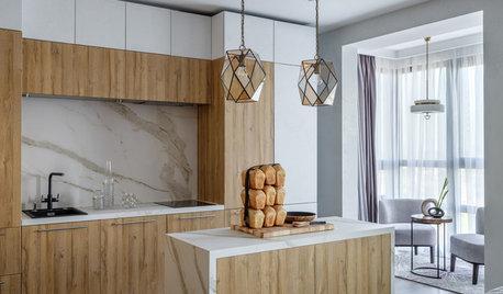 Просто фото: Кухни в три ряда... шкафов