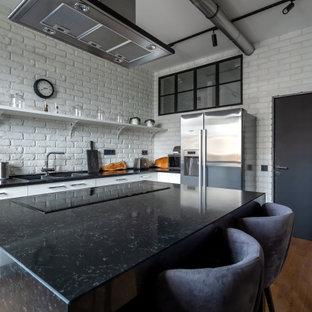 Источник вдохновения для домашнего уюта: кухня в стиле лофт