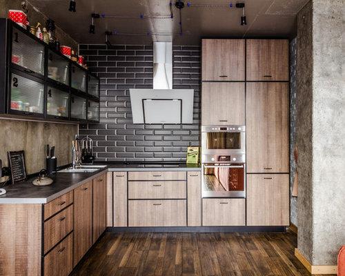 industrial k chen ideen design bilder houzz. Black Bedroom Furniture Sets. Home Design Ideas