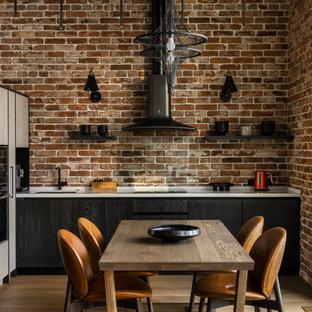 Идея дизайна: кухня в стиле лофт