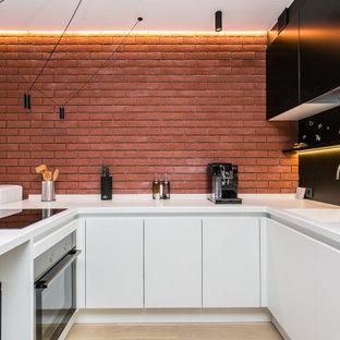 На фото: кухня в стиле лофт с