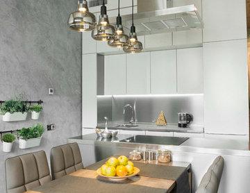LOFT + кухня из нержавеющей стали