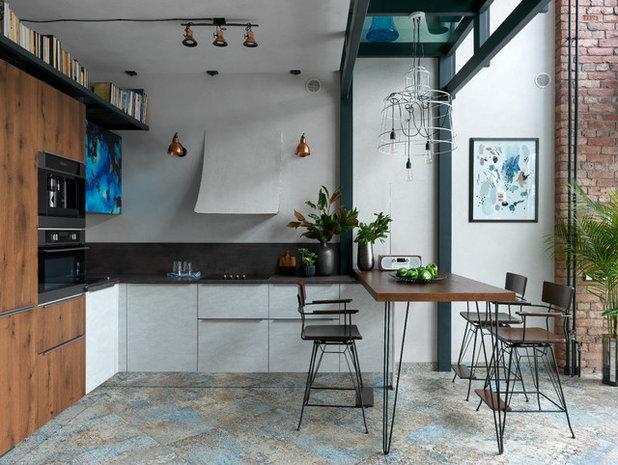Лофт Кухня by BrickTiles.Ru плитка из старого кирпича