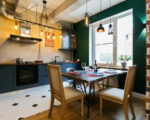 Cucina abitabile industriale con top in rame foto e idee per
