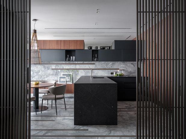 Современный Кухня by Архитектурная студия MOPS
