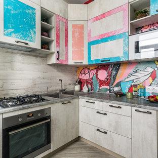 На фото: кухня в стиле фьюжн