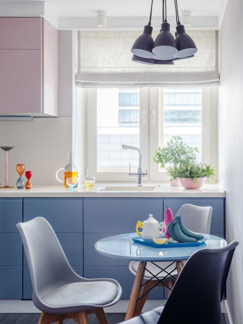 skandinavische k che mit r ckwand aus porzellanfliesen. Black Bedroom Furniture Sets. Home Design Ideas