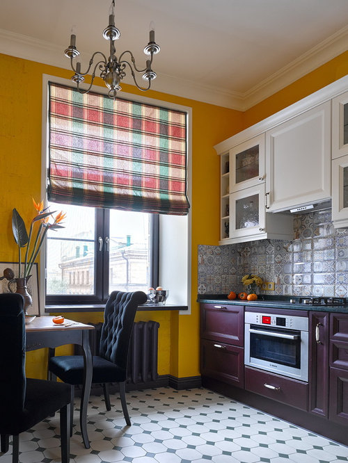 Eclectic Enclosed Kitchen Designs   Inspiration For An Eclectic Enclosed  Kitchen Remodel In Moscow With Recessed