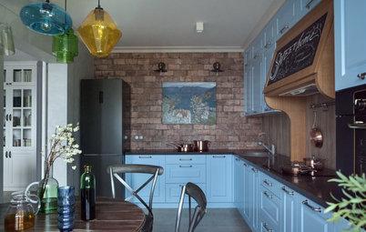 Вопрос: Как сделать «непошлый» кирпич на кухне
