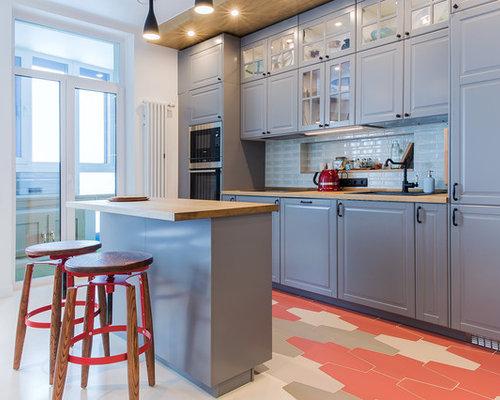 Küchen mit Kücheninsel in Novosibirsk Ideen, Design & Bilder | Houzz
