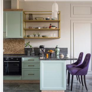 Пример оригинального дизайна: кухня в стиле неоклассика (современная классика)
