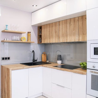 75 Beautiful Small Kitchen With White Appliances Pictures Ideas