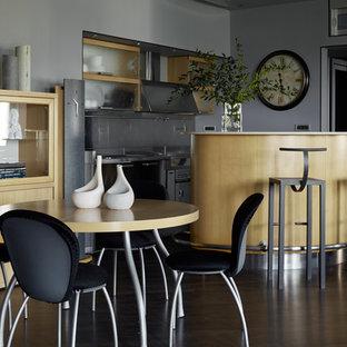 Источник вдохновения для домашнего уюта: прямая кухня в современном стиле с островом