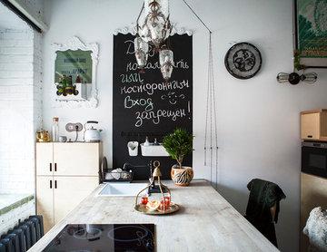 В гостях: Крошечный лофт в квартире девушки-дизайнера