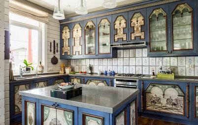Фотоохота: Непошлые кухни с рисунком на фасаде