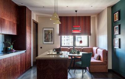Houzz тур: Квартира в оттенках марсалы и розе