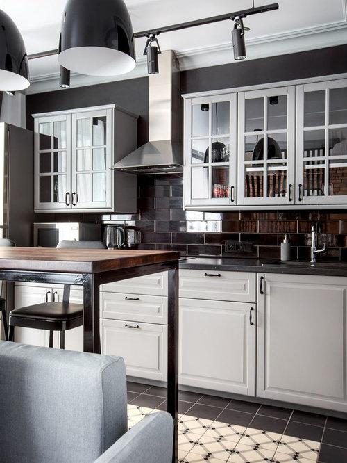 Ideas para cocinas fotos de cocinas con salpicadero - Cocina suelo negro ...